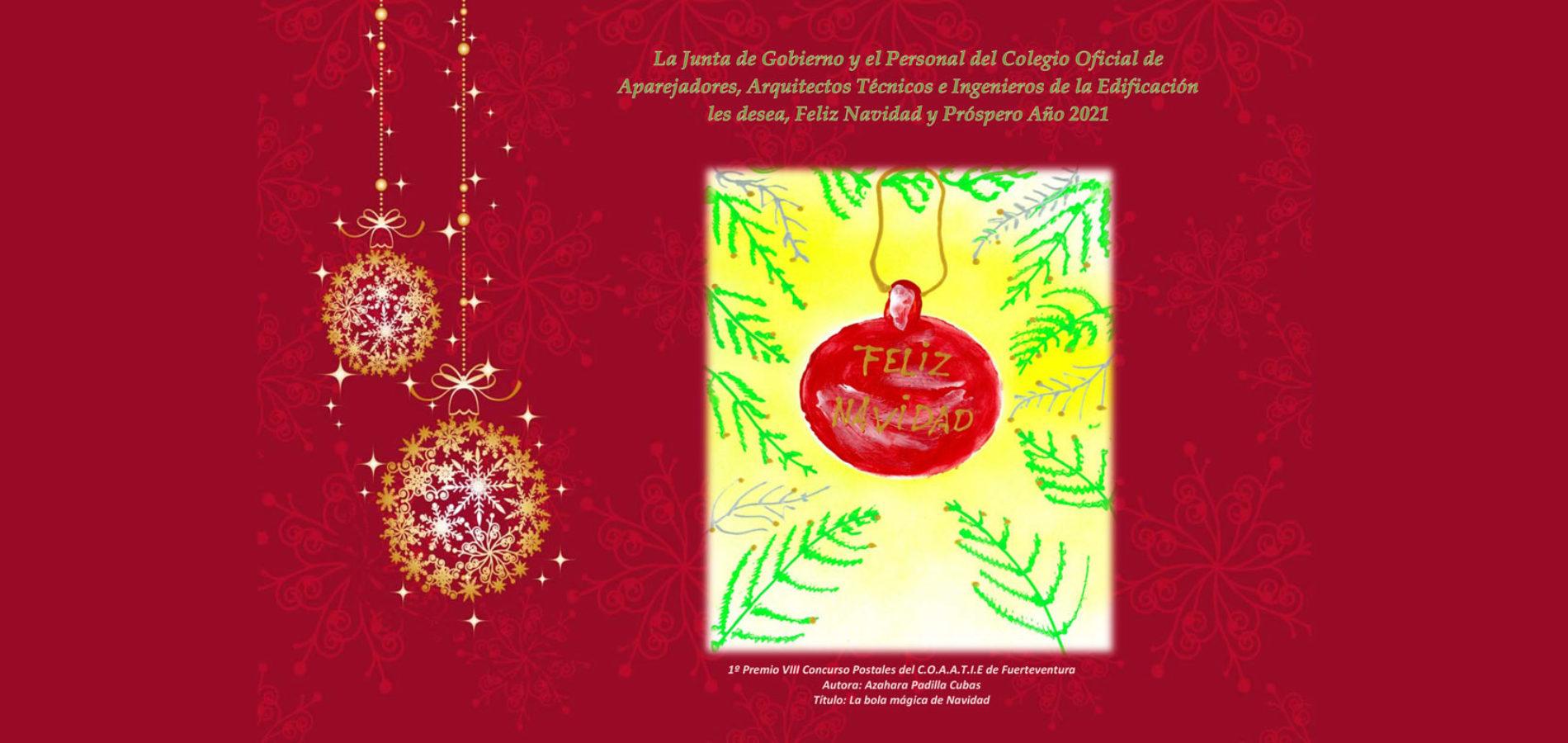 El COAATIEF les desea Felices Fiestas !!!